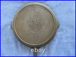 #10 GRISWOLD, cast iron skillet, BBL/EPU/HR, pn 716 B, EX, Cond, NR