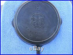 #10 GRISWOLD, cast iron skillet, BBL/EPU/HR, pn 716, VG, Cond, NR