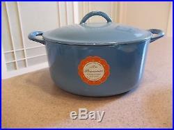 10 PC Vintage Descoware Belgium Blue Enamel Cast Iron Pot Pan Set New Old Stock