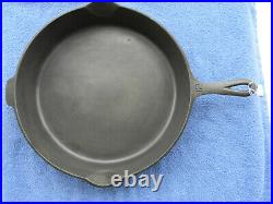 #12 GRISWOLD, cast iron skillet, BBL/EPU/HR, pn 719, EX, Cond, NR