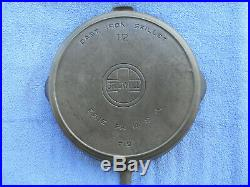#12 GRISWOLD, cast iron skillet, BBL/EPU, pn 719, EX, Cond, NR