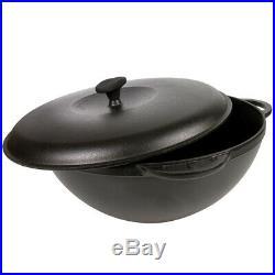 12 L Cast Iron Kazan 15.7 WOK Deep Pan Pilaf Lagman Uzbeki Dish SITON