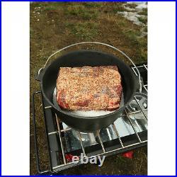 12-Quart Cast Iron Dutch Oven Pre-Seasoned Kitchen Cookware Cooking Pot with Lid