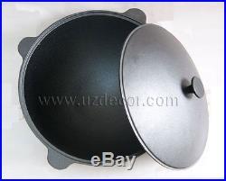 12 litres Set New Uzbek National Cookware 100% Cast-Iron Kazan+Oven (3.2gallons)
