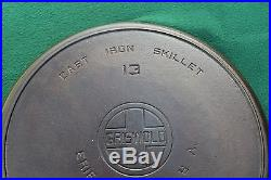 # 13 GRISWOLD EPA SKILLET LARGE BLOCK WITH HEAT RING EXCELLENT CONDITION