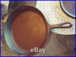 13 Griswold Cast Iron Skillet 719B Iron Frying Pan Heat Ring small BLOCK #12