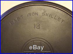 #13 Griswold Cast Iron Skillet, 720, Slant logo