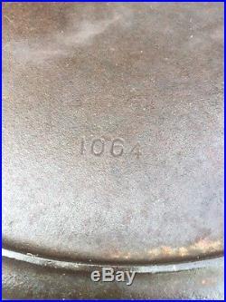 #14 Wagner Ware Cast Iron Skillet Sidney # 1064