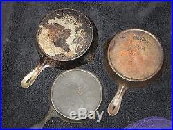 16 Antique Cast Iron Pans 12 11 10 9 8 7 6 5 3 + Griswold Erie Wagner Wapak +++