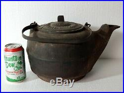 1866-'70's Cast Iron Tea Pot Kettle Great Western Stove Foundry, Leavenworth KS