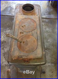 1905-1923 Martin Stove & Range Cook Heating Stove, Cast Iron Ranch Arch Salvage