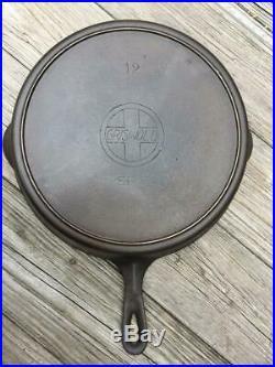 1906 ANTIQUE FULLY RESTORED GRISWOLD LARGE SLANT LOGO No 12 CAST IRON SKILLET