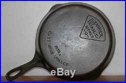 1915 1934 WAGNER WARE (Pie Logo) No. 8 Skillet 1058 L Cast Iron Cookware