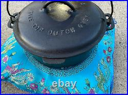 1920 GRISWOLD NO. 9 TITE-TOP DUTCH OVEN With LID, 2552 CAST IRON with Trivet 207