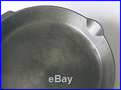 1920s-30s GRISWOLD large block #14 CAST IRON SKILLET Erie, PA 718 heat ring XLNT