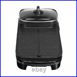 2 In 1 Electric Barbecue Pan Grill Teppanyaki Cook Fry BBQ Oven Hot Pot Shabu