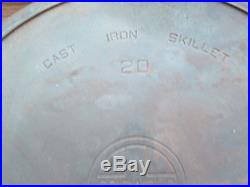 # 20 Griswold Cast Iron ERIE PA USA Lg Block Logo 728 Heat Ring Hotel Skillet
