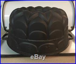 #24 Cast Iron Bundt Cake Pan Mold King Clean