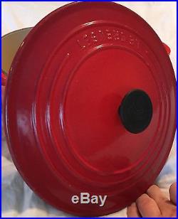3.5 qt #22 CHERRY RED Le Creuset Cast Iron Round DUTCH OVEN POT