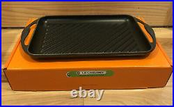 #33 Midnight Blue LE CREUSET Cast Iron 13 Rectangular Skinny BBQ Grill Pan