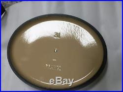 $375 New Le Creuset Cast Iron Signature 6 3/4 -Qt. Graphite Grey Oval