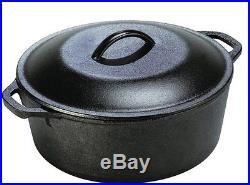 5 Qt Cast Iron Dutch Oven Pre-Seasoned Pot Lid Kitchen Cookware Utopia New