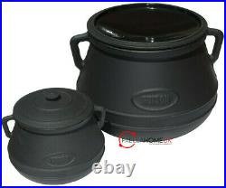 5L Heavy Traditional Enamelled Cast Iron Stewpot, Saucepan, Cooking Pot