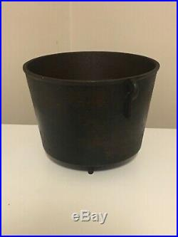 #6 or Small #7 Cast Iron Bean Pot Kettle, 8 5/8 Outside Diameter! Very Rare