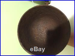 #7 Cast Iron Bean Pot Kettle 8 3/4 Outside Diam. 7 1/2 tall