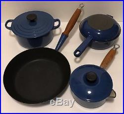 7 Piecele Creusetinkbluecast Ironenameledcookwareset