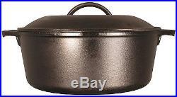 7 Qt Cast Iron Dutch Oven Pre-Seasoned Pot Skillet Cover Cookware Lodge New Lid