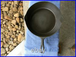 #9 ERIE by GRISWOLD, deep cast iron skillet, CHICKEN PAN, pn 733, VG, Cond, NR