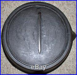 #9 Gate Mark Fancy Handle Cast Iron Skillet Circa (1860-1890) With Heat Ring