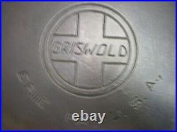 #9 Griswold Cast Iron Skillet 11 Frying Pan 710-h Large Slant Logo Heat Ring