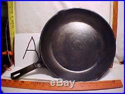 (a) Super Rare 11 #1390 Cast Iron Wagner Ware Sidney O Chef Skillet Xmas Gift