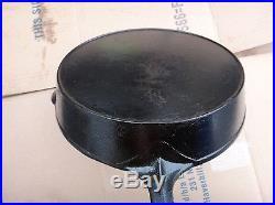 Antique #10 Erie Cast Iron Skillet 716a Flat Bottom Pre Griswold No Wobble