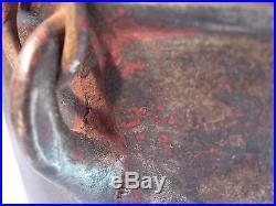 Antique 3 Leg Cast Iron BEAN POT Kettle with Swing Handle & 1800's GATE MARK