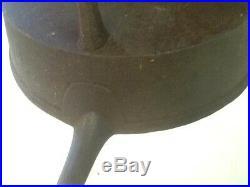 Antique Cast Iron 3 Legged Spider Skillet Gate Mark 19th Century 1800's