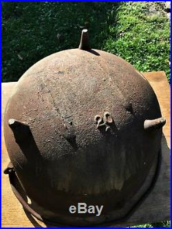 Antique Cast Iron Kettle 20 Gallon Cauldron Rendering Cowboy Bean Pot Gatemarked