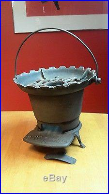 Antique Cast Iron ORR PAINTER BBQ Grill Hibachi Coal Camp Stove Cooker USA #3