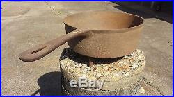 Antique Cast Iron Skillet 3-Leg 10in. Frying Pan with Lid Gate Mark on both piec