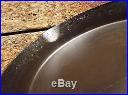 Antique ERIE # 12 Cast Iron SKILLET Frying Pan PRE GRISWOLD Heat Ring RESTORED