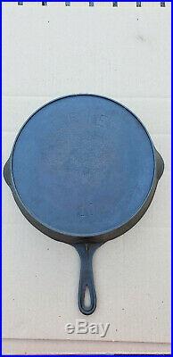 Antique Erie Pre Griswold 10 Cast Iron Skillet 716 A Heat Ring HTF Rare Vtg Pan