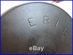 Antique Erie pre-Griswold cast iron skillet #10, very nice