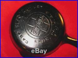 Antique GRISWOLD 703 No 2 Cast Iron Skillet Block Logo Superb Condition & Clean