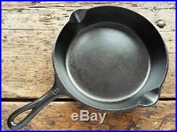Antique GRISWOLD Cast Iron SKILLET Frying Pan # 6 LARGE SLANT LOGO Ironspoon