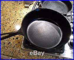 Antique GRISWOLD Set No 80 DOUBLE Skillet Block Logo Cast Iron Skillet Fry Pans