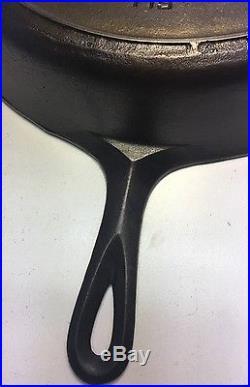 Antique Griswold #12 Cast Iron Skillet Large Block Logo Heat Ring Excellent Cond