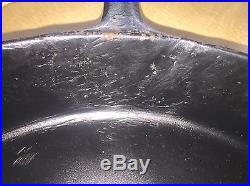 Antique Griswold Cast Iron Skillet No. 13 Slant Erie Pa USA 720 withHeat Ring