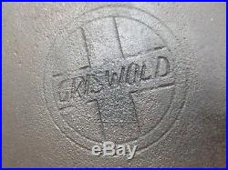 Antique Griswold Slant Logo No. 10 Cast Iron Skillet With Heat Ring, P/n 716 B